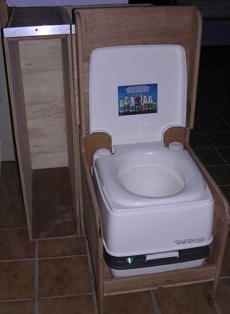 installation du wc dans le fourgon. Black Bedroom Furniture Sets. Home Design Ideas